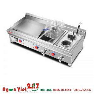 Bếp chiên nhúng 3 ngăn có rán phẳng CN-06