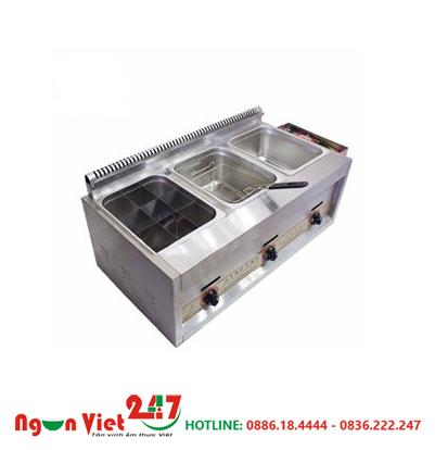 Bếp chiên nhúng 3 ngăn dùng gas BCN-01