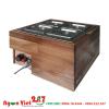 tủ giữ nóng thức ăn ốp vỏ gỗ