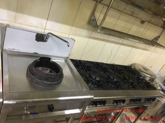 Bếp Á một họng 1 vòi nước kiềng ụ