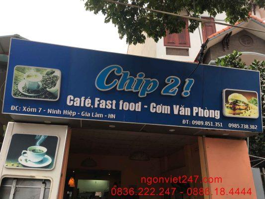 Địa điểm quán fast food Chip2!